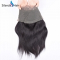 Brazilian Virgin Remy 100% Human Hair 360 Lace Closure #1B Natural Wave 5