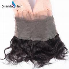 Brazilian Virgin Remy 100% Human Hair 360 Lace Closure #1B Body Wave
