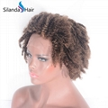 """#4-27 Curly Brazilian Remy Human Hair 12"""" Lace Frontal Wigs 3"""