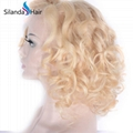 Remy Loose Wave Brazilian Human Hair #613 Lace Frontal Wigs 4