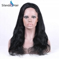 Nice #1B Body Wave Brazilian Remy Human Hair Lace Frontal Wigs 3