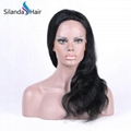 Nice #1B Body Wave Brazilian Remy Human Hair Lace Frontal Wigs 5