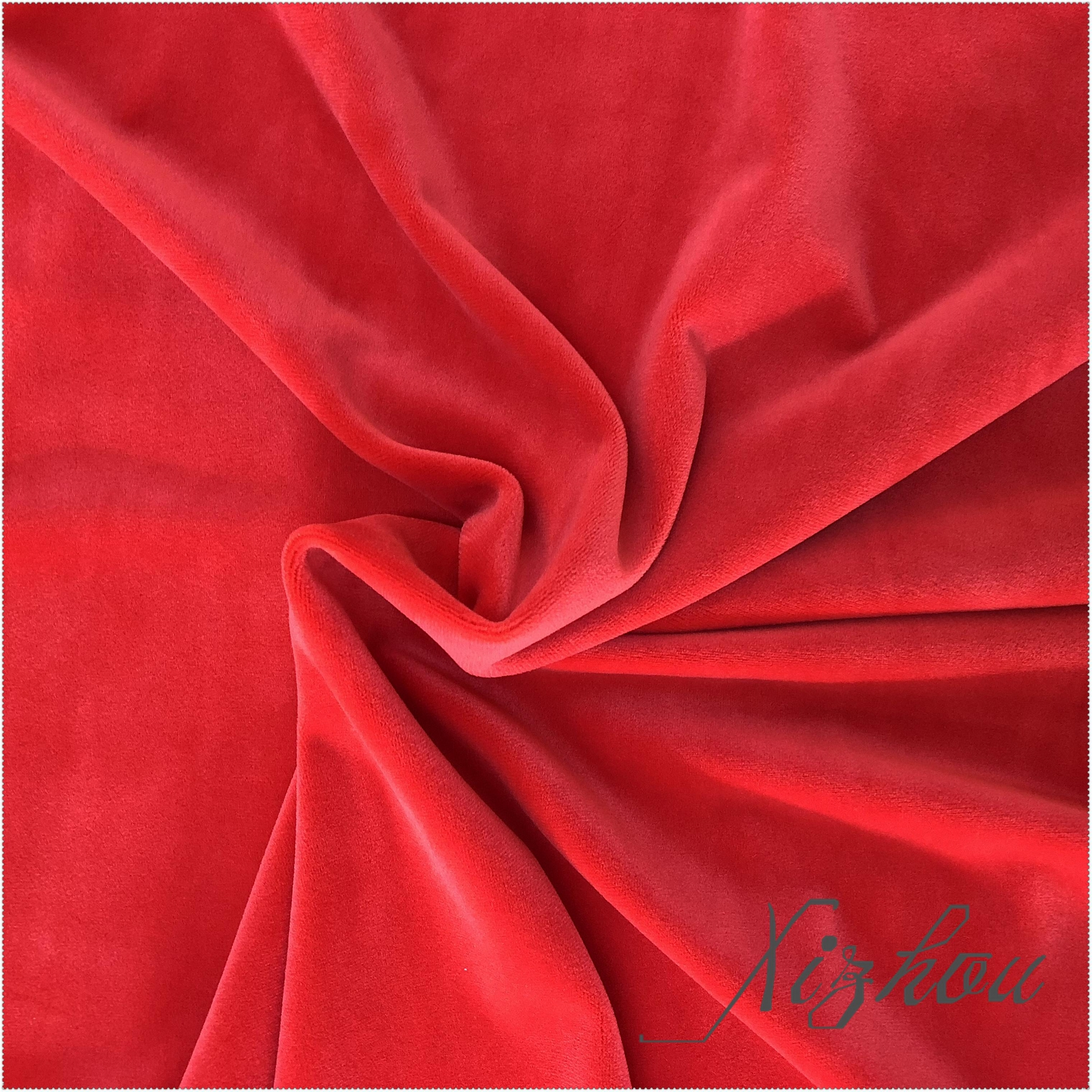 china-made polyester spandex supersoft short plush fabric for gar 1