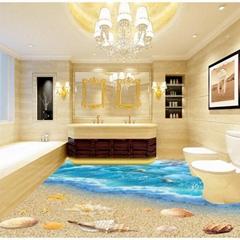 Bedroom bathroom 3D floor clear epoxy floor paint