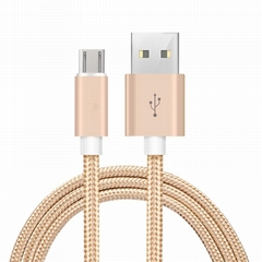 2018 Hot Selling 1M Fast Charging Braided USB Cable for Android