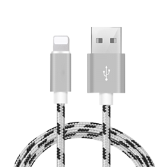 CE Certification Hot selling 1M 3ft  Tiger Pattern Braided USB Cable for iPhone