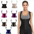 Sexy Latex Underbust Corset Waist Trainer Woman Shaper Plus Size