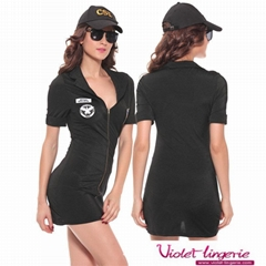 Sexy Police Women Costsume Adult Uniform Lingerie