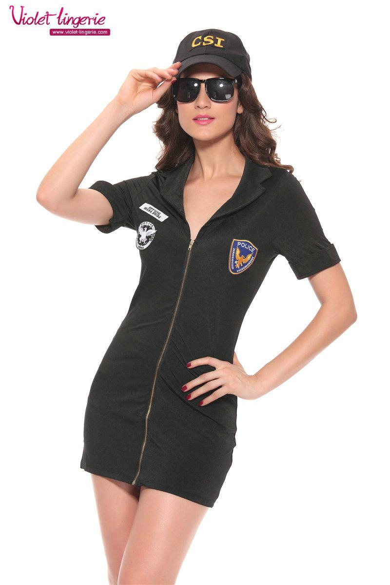 Sexy Police Women Costsume Adult Uniform Lingerie 3
