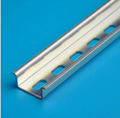 China 35mm Width Galvanized Zinc Plating Slotted Steel Din Rail