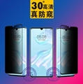 Full Screen Coverage Glass Tempered Privacy Protector for Popular Mobile Phone