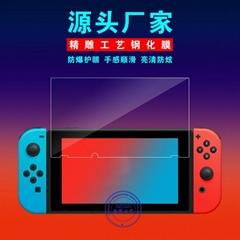 任天堂钢化膜Nintendo switch游戏机蓝光玻璃NS保护贴膜工厂批发