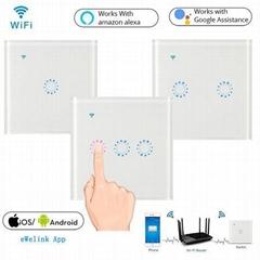 EU UK Standard WiFi Smart Touch Wall Switch
