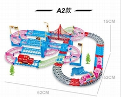 A2 Railway toy New railway toys of qumitoys Hot train track electric railway set