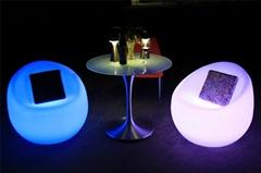 Fashionalbe modern outdoor led luminous plastic sofa chair