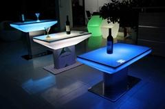 Led furniture aluminum base table plastic coffee tea table
