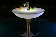 RGB 16 colors changing glowing cocktail round table event furniture