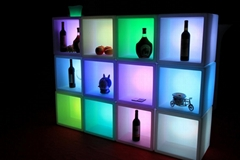 Led plastic chair table light flashing Illuminated cube follew pot