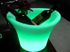 Fashionable design modern garden decorate led plastic flower pots