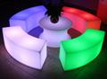 Club modern fashionable led bar stool chair cube