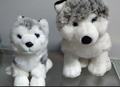 Stuffed animals husky plush stuffing