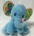 customized plush elephant with electronic music box & button on the ears 10 inch 1