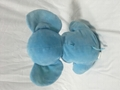 customized plush elephant with electronic music box & button on the ears 10 inch 2