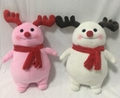 customized plush snow man with scarf 11.5 inch