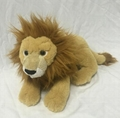 Stuffed animal brown lying plush lion