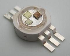 大功率RGB全彩LED仿流明七彩光燈珠單顆1W