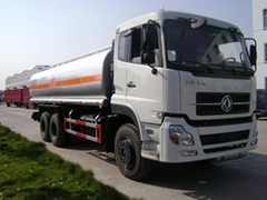 High quality Crude oil transport vehicle 21 m3 oil tank truck for sale