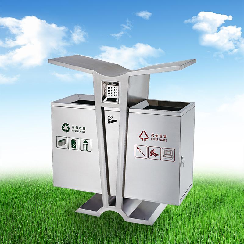 戶外小區學校公園環保分類垃圾桶果皮箱 2