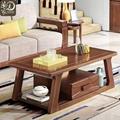 组合胡桃木实木茶几全实木沙发组合 2