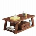 组合胡桃木实木茶几全实木沙发组合 3
