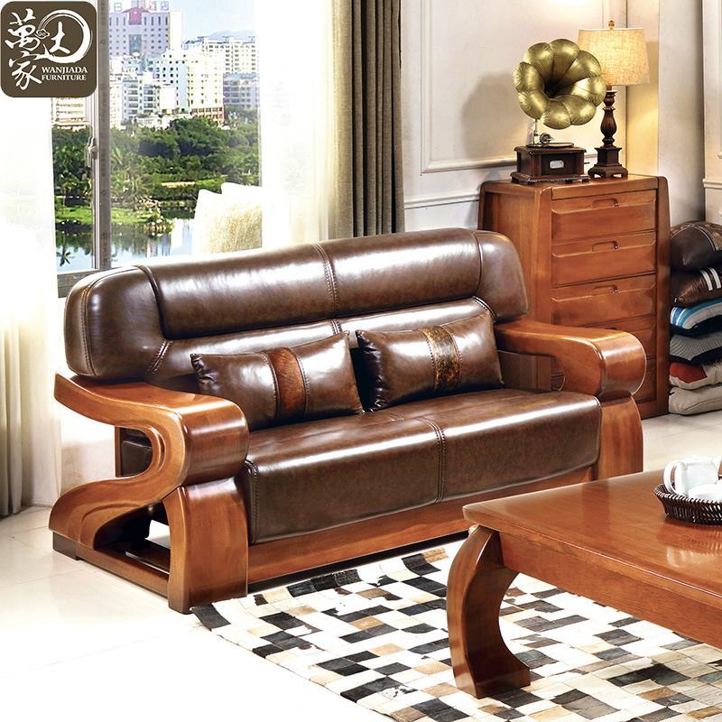 组合胡桃木实木茶几 沙发组合组合套装 4