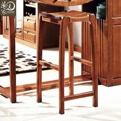 家用厨房客厅隔断实木胡桃木酒吧吧台