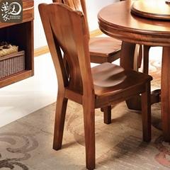 實木餐桌椅組合餐廳胡桃木傢具伸縮折疊餐桌