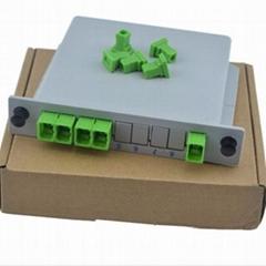 1分4插片式光分路器
