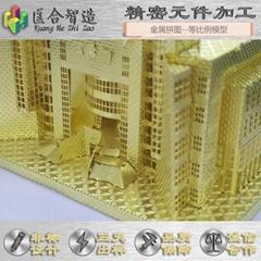 仿真建筑模型拼图we can design the simulation building model of metal