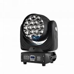 19颗RGBW 四合一LED调焦打圈摇头灯