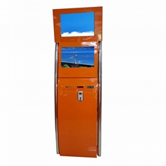 Dual Touch Screen Information Kiosk Terminal With LED Light For Payment
