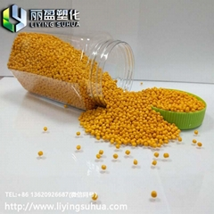 Blown film injection molding yellow masterbatch