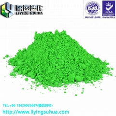 Injection coating ink fluorescent pigment