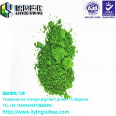 Cold color changing powder thermochromic