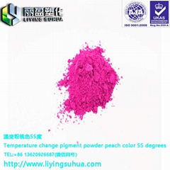 Feel color changing powder