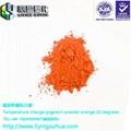 服裝印花用溫變橙色33度高溫消色變色粉 3