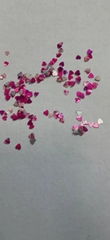 High quality cosmetic grade 3mm shape heart glitter