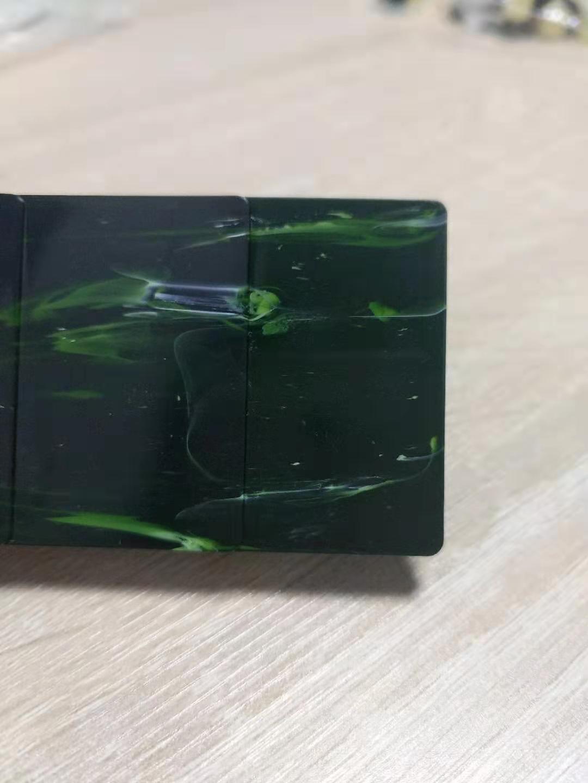 注塑工藝品高檔配飾品用大理石色母翡翠綠色母粒 4