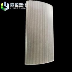 12μm acrylic diffuser has higher polydisperse transmittance than silicone
