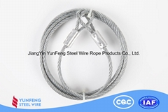 Electro Galvanized Coated with Transparent Nylon High Carbon steel wire rope